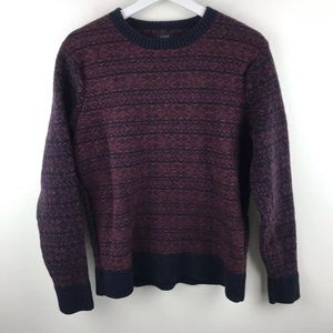 J. CREW 100% Lambswool Holiday Fair Isle Sweater